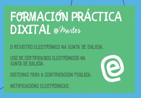 Xornada de formación práctica dixital (E-martes) sobre o Rexistro electrónico na Xunta de Galicia: 22 de xuño